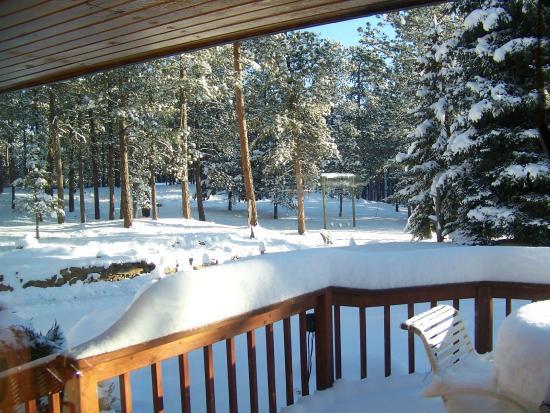 Elk Ridge Bed & Breakfast: Fairy dust in the late morning...