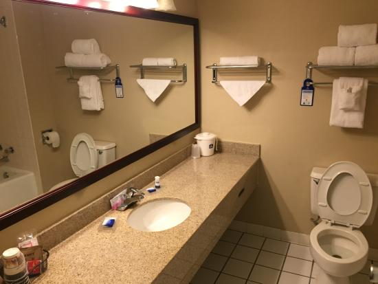BEST WESTERN Johnson City Hotel & Conference Center: Clean bathroom BUT NO FAN!!!!