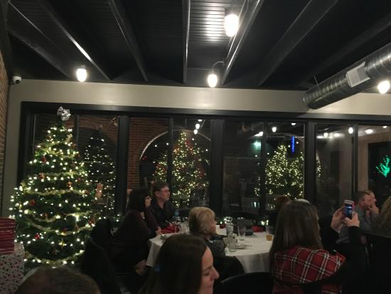 Culver, IN: View from large banquet room during holiday party