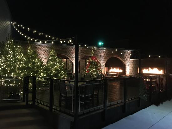 Culver, IN: The patio decorated for the holiday season