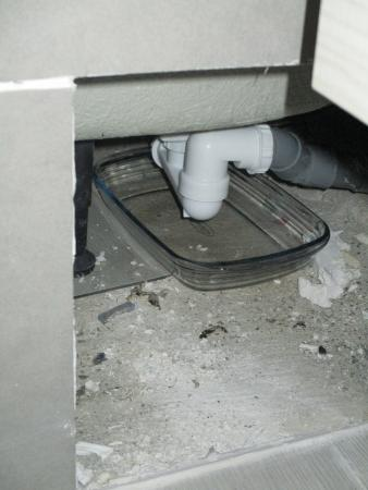 Nord-Pas-de-Calais, France: unsafe exposed plumbing