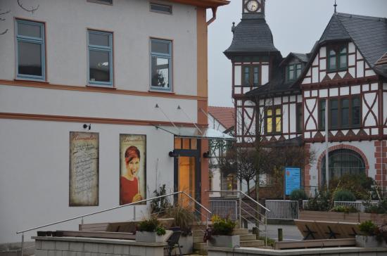 Steinbach-Hallenberg, Allemagne : Das Heimatlon am Markt / Rathaus