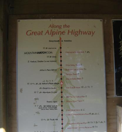 the information map near Castle Hill Picture of Great Alpine