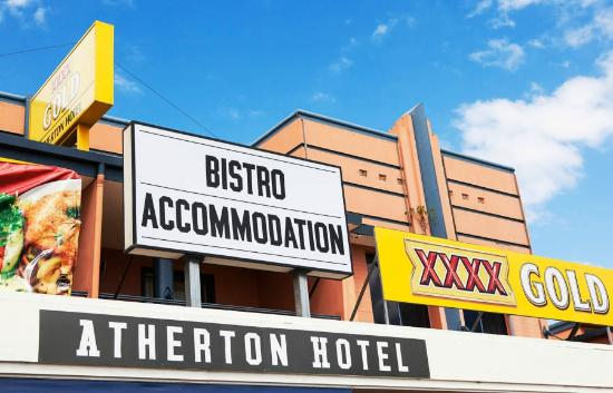 Atherton Hotel Bistro: Accommodation at the Atherton