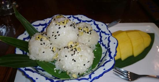 Khao Yai Garden Lodge : sticky rice with mango
