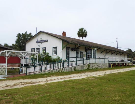 Withlacoochee Trail State Park: The old Inverness Depot
