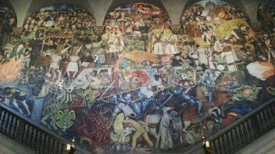 Mural 3 picture of murales de diego rivera en la for Diego rivera la conquista mural