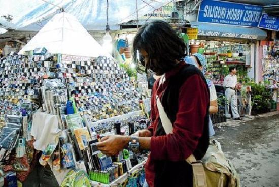 Siliguri, Inde : electronic stall