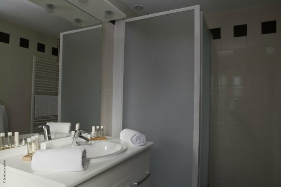 Chedigny, فرنسا: Salle de douche