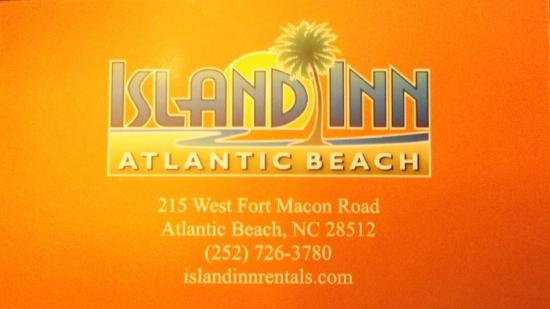 Island Inn of Atlantic Beach: Business card