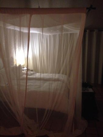 Toro Yaka Bush Lodge: 's avonds het muskieten net omlaag