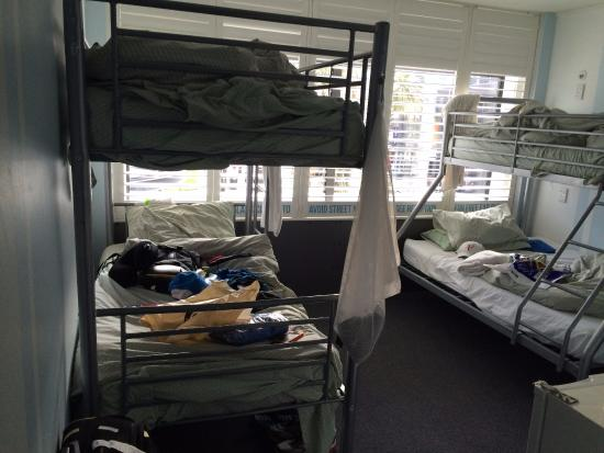 Absoloot Value Accommodation: Double decked beds inside room no 102