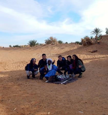 Kasbah Bivouac Lahmada: My group with our Sahara Guide, Ali