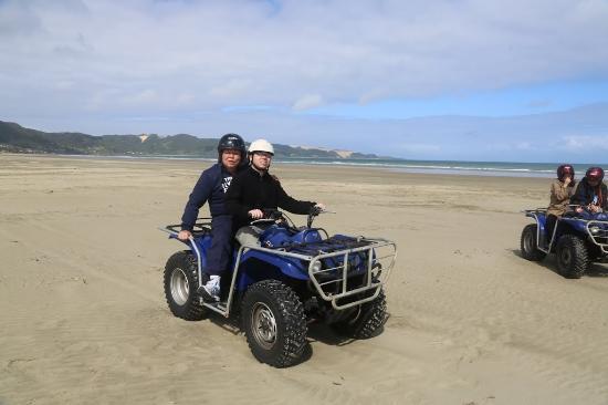 Ahipara Adventure Centre : Riding with my son