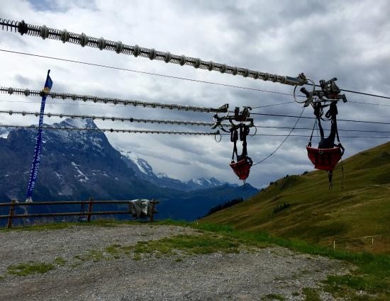 Grindelwald, Switzerland: We wanted to fly one more time, if it weren't for the rain...