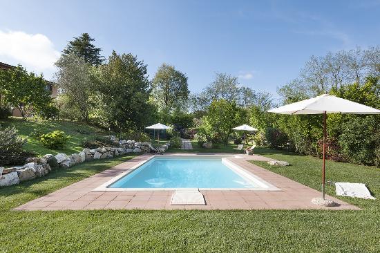 Le Caiole : Il parco e la piscina