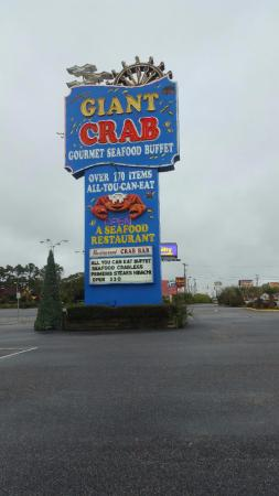 Giant Crab Seafood Restaurant: The Street Sign