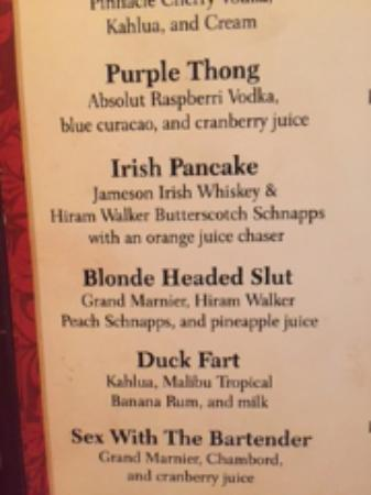 Bumsteads Pub: The drink menu