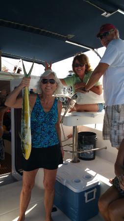Zatoka Simpson, Sint Maarten: We caught a fish!