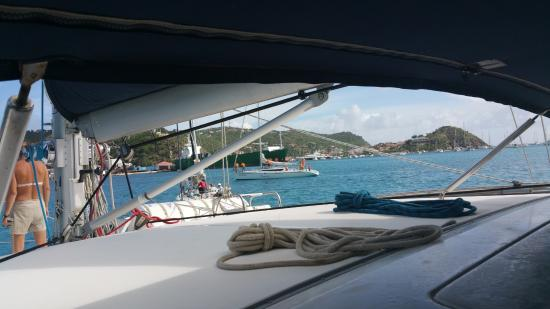 Simpson Bay, St. Maarten-St. Martin: Coming into harbour
