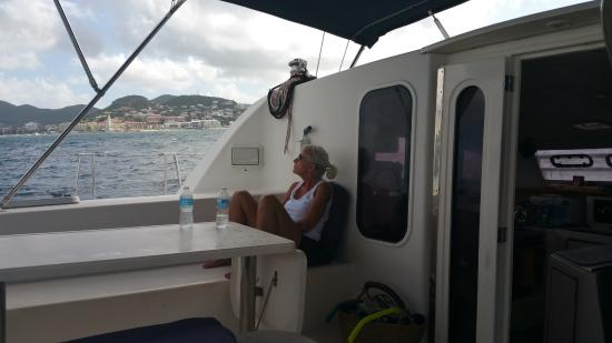 Simpson Bay, St. Maarten-St. Martin: A quiet  moment while sailing