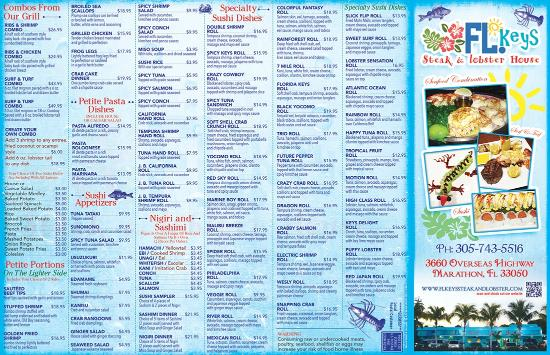 Florida Keys Steak and Lobster House : Take out menu 4