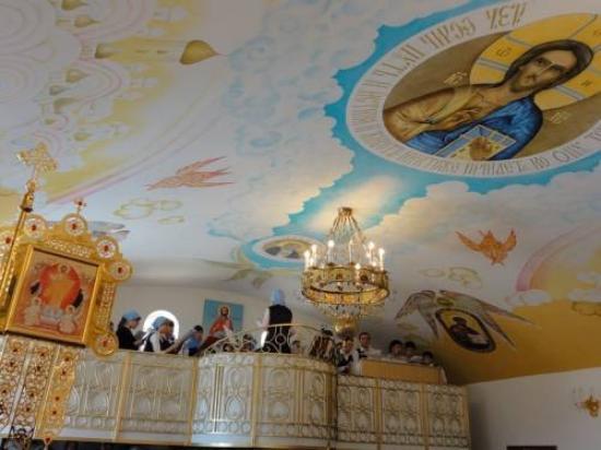 Volzhsky, Russland: Место для певчих - клирос храма