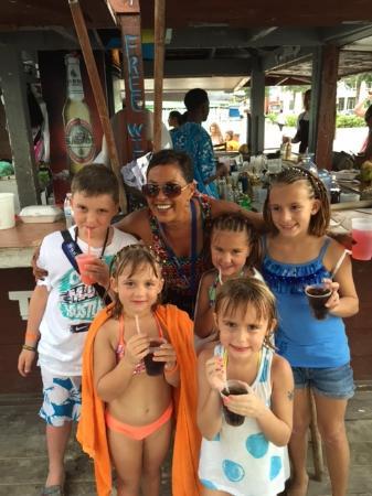 cfb3c6fec222e Amanda and the kids - Picture of Tiki Bikini Hut