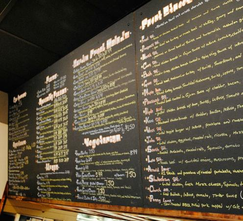 Ballston Spa, NY: Menu Boards