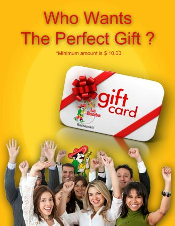 La Bamba Mexican and Spanish Restaurant: Gift Cards