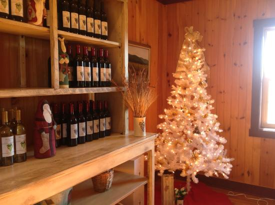 Wine Bottle Christmas Tree Rack.Christmas Tree By The Bottle Rack Picture Of Winding Road