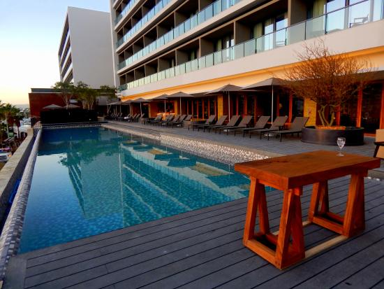 Pool near the lobby picture of breathless cabo san lucas for Pool and spa show charlotte nc