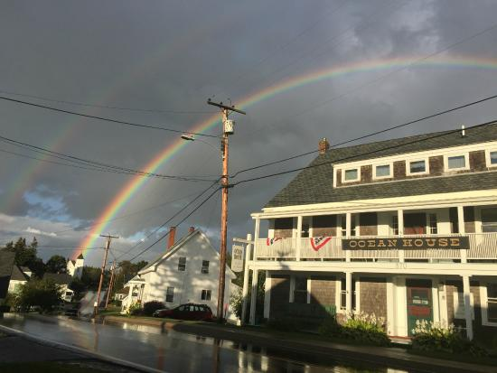 Port Clyde, ME: Double rainbow!