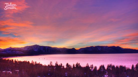 South Lake Tahoe, CA: Sunset at TahoeSouth