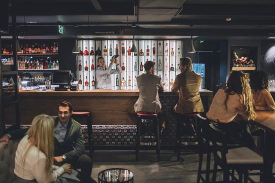 Enjoy a place on the bar