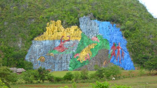 Mural de la prehistoria vinales cuba picture of for Mural de la prehistoria