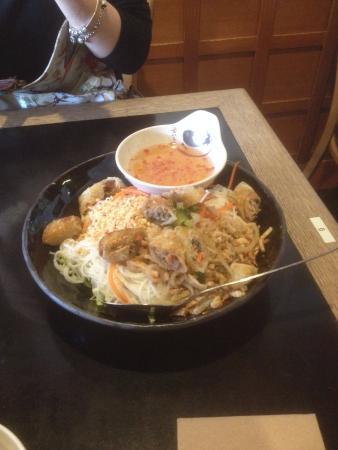 Indochine Vietnamese Restaurant: Hanoi spring rolls and shredded pork with vermicelli