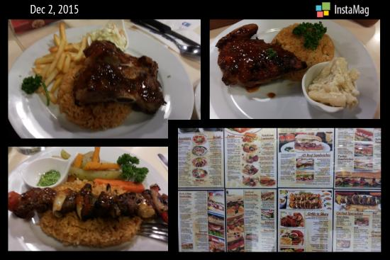 Almon Marina: My favorite menu: rib platter, lamb kebab and roast chicken