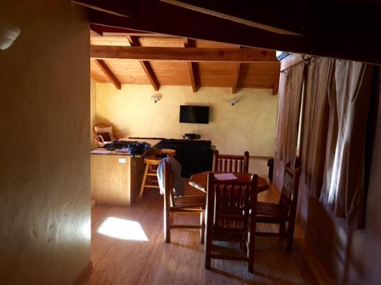 Buckeye Tree Lodge looking from bedroom door to greatroom