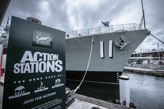 Musée national de la marine de Sydney : HMAS Vampire in the Action Stations Pavillion