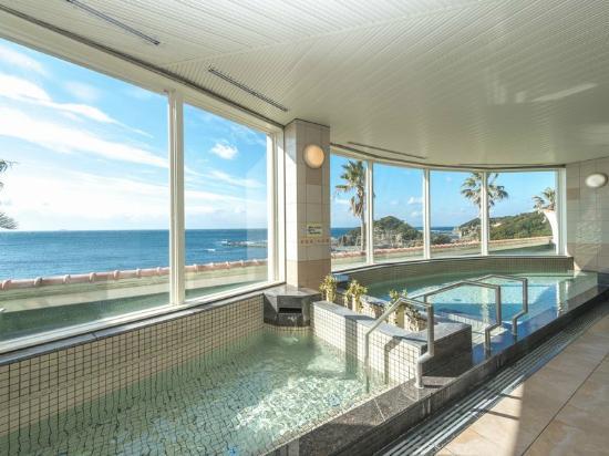 Rivage Spa Hikigawa: 眼前に海が広がる大浴場