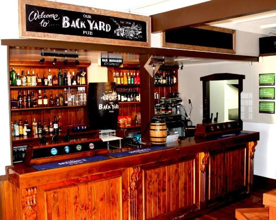 "Our BackYard Pub: The ""Bar"" area."