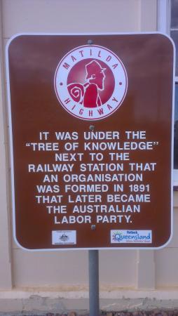 Barcaldine, Australia: Plaque