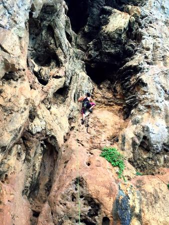 Railay Rock Climbing Shop - Day Adventures : Climbing with instructor Chai of Railay Rock Climbing Shop