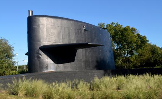 Patriots Point Cold War Submarine Memorial: The sail of the USS Lewis and Clark, SSBN 664