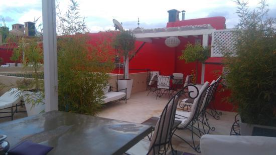 Riad Libitibito: terrasse