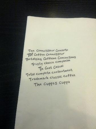 The Coffee Connoisseur: The tissue paper