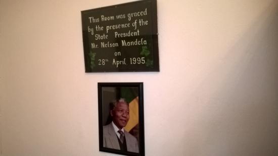 Kingna Lodge: Detail aus dem Gästezimmer, in dem Nelson Mandela übernachtete.