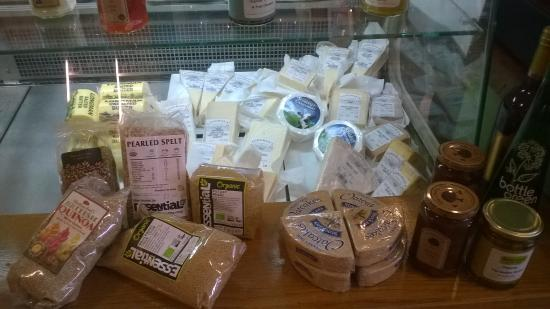 Chewton Mendip, UK: cheeses