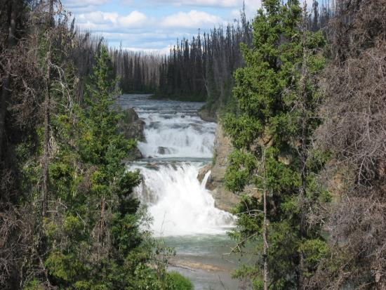 Delta Junction, AK: Waterfall along the way in Yukon